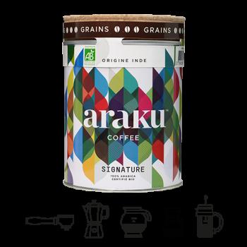 Signature - café en grains - boîte 200g -100% arabica origine Inde