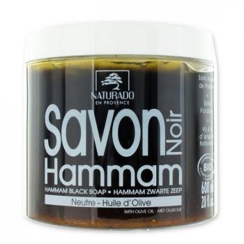 NATURADO - Savon noir bio Hammam à l'huile d'olive 600ml
