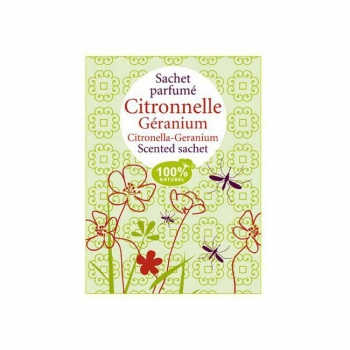 ENCENS DU MONDE - Sachet parfumé Citronnelle Géranium