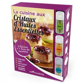 AROMANDISE - Livre Coffret initiation à la cuisine aux Cristaux huiles essentielles