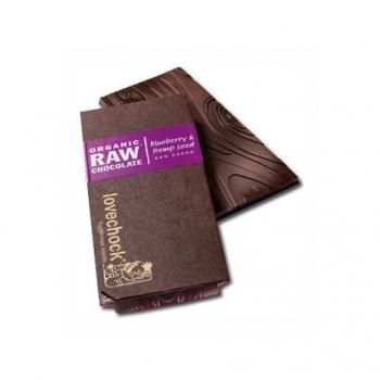 Tablette de Chocolat Cru Myrtille & Graines de Chanvre - Lovechock
