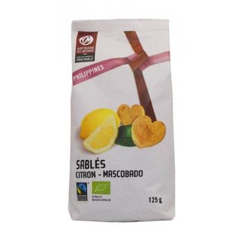 Biscuits sablés citron-mascobado Bio