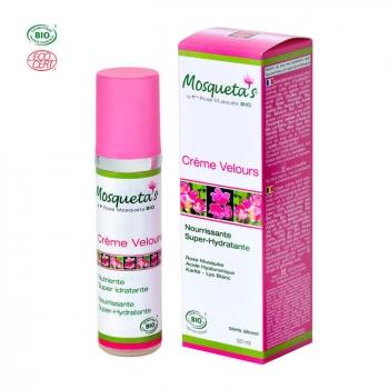 MOSQUETA'S - Crème Velours bio Super hydratante à la rose musquée 50ml