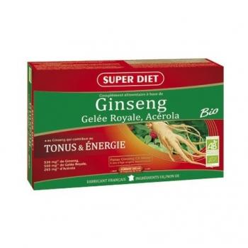 Ginseng, Gelée Royale, Acérola Bio - SuperDiet