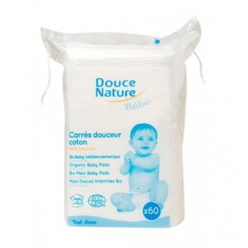 Carrés Douceur coton Bio x60-Douce Nature Bébé