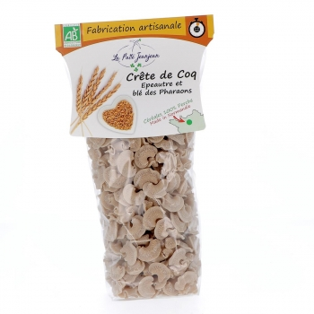 Pâtes Crête de Coq - Épeautre et blé des Pharaons bio, 250 g