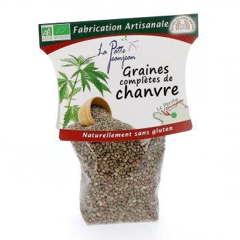 Graines complètes de chanvre bio, 150 g