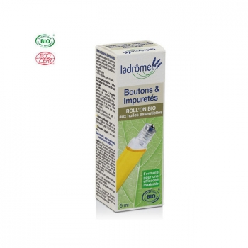 LADRÔME - Roll-on bio Boutons et Impuretés aux huiles essentielles 5ml