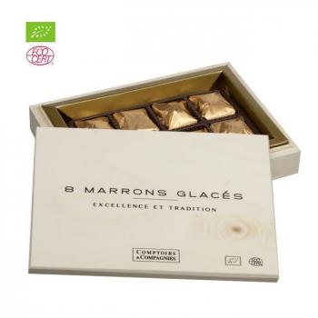 COMPTOIRS ET COMPAGNIES - Coffret 8 marrons glacés bio 160g