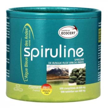 FLAMANT VERT - Spiruline Ecocert 500mg 500 comprimés