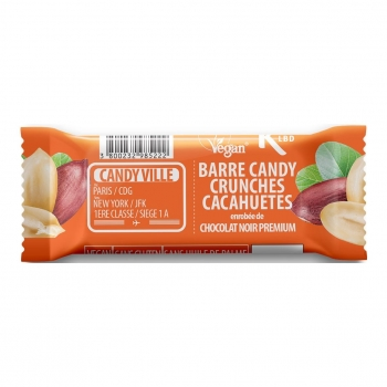 Barre Candy Crunchies Cacahuètes 50g Bio - Candy Ville