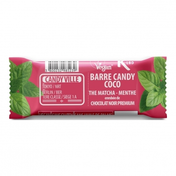 Barre Candy Coco Matcha Menthe 50g Bio - Candy Ville