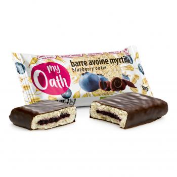 Barre Avoine-Myrtille enrobée de chocolat Bio 50g - My Oath
