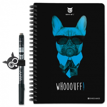 WHYNOTE® A5 BULLDOG - Bloc-Notes pages à lignes / Réutilisable à l'infini