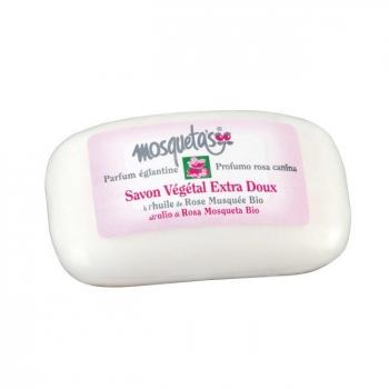 MOSQUETA'S - Savon végétal à l'huile de rose musquée bio 125g