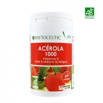 PHYTOCEUTIC  - Acérola 1000mg Bio - 75 comprimés