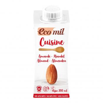 Crème Cuisine Amandes Nature 200ml Bio - Ecomil