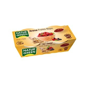Dessert Avoine Fruits Rouges 2x125g Bio - NaturGreen