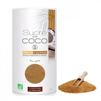 COMPTOIRS ET COMPAGNIES - Sucre de coco bio - Boîte rechargeable 400g