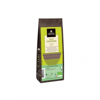 Thé vert bio stimulant Gingembre