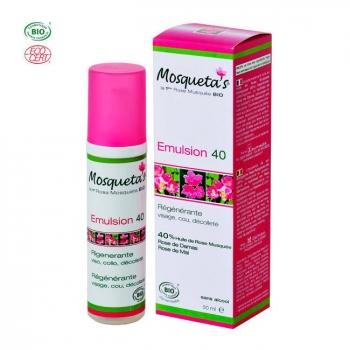 MOSQUETA'S - Emulsion 40 bio à l'huile de rose musquée 50ml