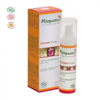 MOSQUETA'S - Crème rééquilibrante Purity bio Peau mixte à la Rose musquée 50ml