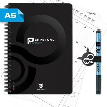 WHYNOTE® PLANNER A5 - Agenda perpétuel / Réutilisable à l'infini