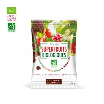 COMPTOIRS ET COMPAGNIES - Mix Superfruits bio et éclats de fèves de cacao torréfiées 30g