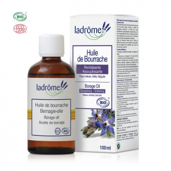 LADRÔME - Huile de Bourrache bio - Cheveux secs et peaux matures 100ml