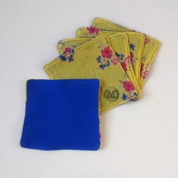 Lot de 5 cotons jaune et bleu