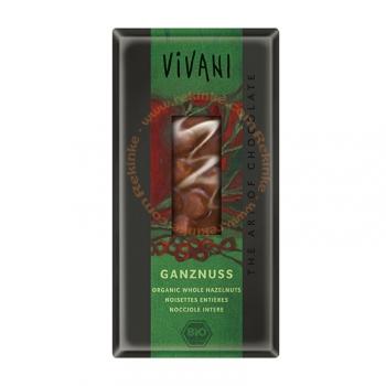 Chocolat au Lait Noisettes Entières Bio - 100g