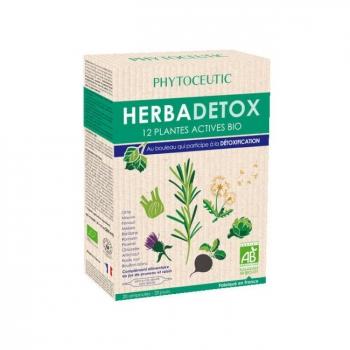 PHYTOCEUTIC  - Herbadetox bio aux 12 plantes actives - 20 ampoules