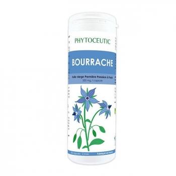 PHYTOCEUTIC  - Huile de Bourrache bio - Beauté de la peau - 180 capsules