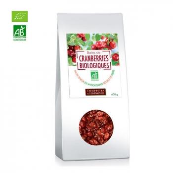COMPTOIRS ET COMPAGNIES - Baies de cranberries bio séchées - Canneberges 400g