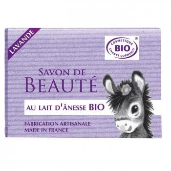 COSMO NATUREL - Savon au lait d'anesse bio Lavande 100g