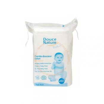 Carrés Douceur Bébé - 100% Coton bio - 60 carrés