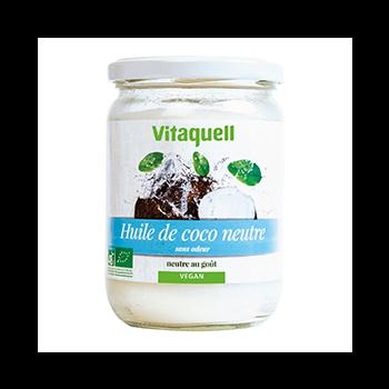 Huile de Coco Neutre 400g Bio - Vitaquell