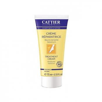 CATTIER - Crème réparatrice pieds secs bio au beurre de karité 75ml