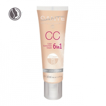 SANTE NATURKOSMETIK - CC Crème bio correctrice 6 en 1 Light n°10 - Tube 30ml