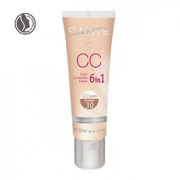 SANTE NATURKOSMETIK - CC Crème bio correctrice 6 en 1 Bronze n°30 - Tube 30ml