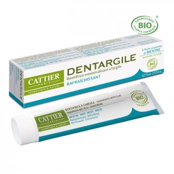 CATTIER - Dentargile Menthe - Dentifrice bio rafraîchissant 75ml