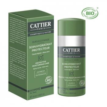 CATTIER - Soin hydratant protecteur homme bio - Gueule d'ange 50ml