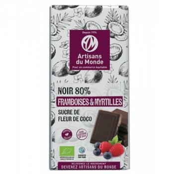 Chocolat Noir Bio Fruits rouges - 100g