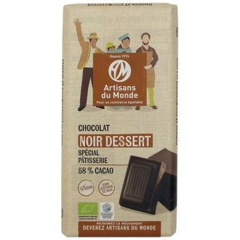 Chocolat équitable et bio noir dessert - 200gr