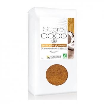 COMPTOIRS ET COMPAGNIES - Sucre de coco bio non raffiné - Format économique 1 kg