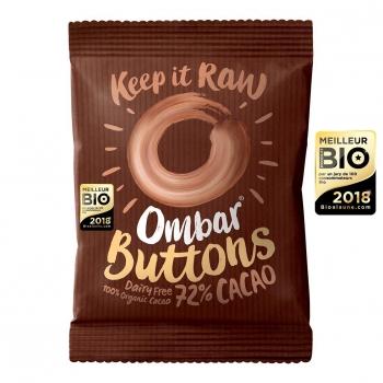 Buttons Chocolat Cru 72% Cacao 25g Bio - Ombar