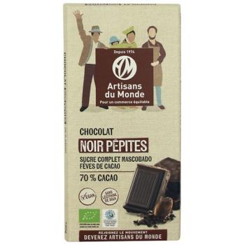 Chocolat noir équitable et bio pépites - 100g