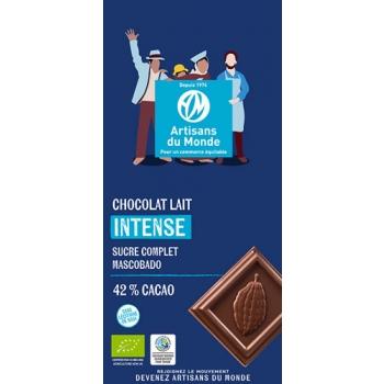 Chocolat au lait équitable et bio Intense - 100gr