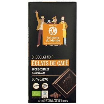 Chocolat noir bio aux éclats de café - 100g