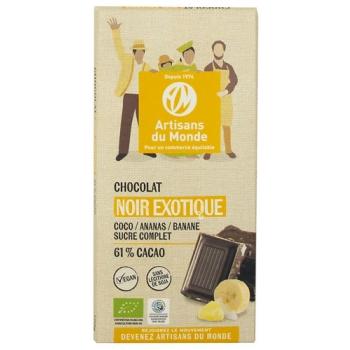 Chocolat noir équitable et bio exotique - 100gr
